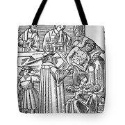 Physician & Plague Victim Tote Bag