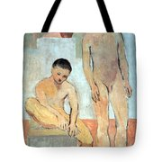 Picasso's Two Youths Tote Bag