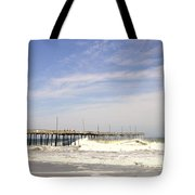 Pier At Nags Head  Tote Bag