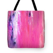 Girl Time - Pink And Purple Abstract Art Painting Tote Bag