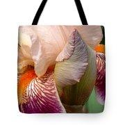Pink And Purple Iris Tote Bag