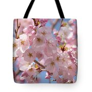 Sunlight On Spring Blossoms Tote Bag