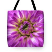 Pink Dahlia Close Up Tote Bag