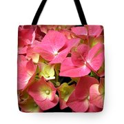 Pink Hydrangea Flowers Tote Bag