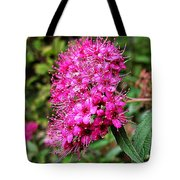 Pink Spirea Tote Bag
