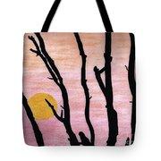 Pink - Sunrise Drawing Tote Bag