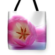 Pink Tulips Close Up And Personal Tote Bag