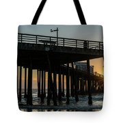 Pismo Beach Pier At Sunset, San Luis Tote Bag