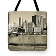 Pittsburgh In Sepia Tote Bag
