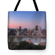 Pittsburgh Skyline At Sunset Tote Bag