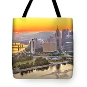 Pittsburgh Sunrise Panorama Tote Bag