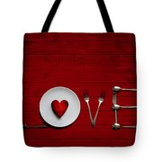 Place Setting Tote Bag