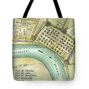 Plan Of New Orleans, 1798 Tote Bag