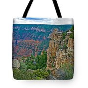 Point Imperial At 8803 Feet On North Rim Of Grand Canyon National Park-arizona   Tote Bag