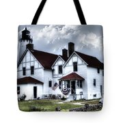 Point Iroquois Lighthouse Michigan Tote Bag