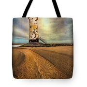 Point Of Ayre Lighthouse Tote Bag