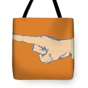 Pointing Finger Vector Tote Bag