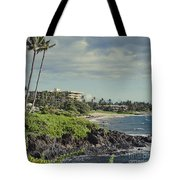 Polo Beach Wailea Point Maui Hawaii Tote Bag