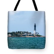 Pompano And The Hillsboro Inlet Lighthouse Tote Bag