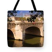 Pont Neuf Over The Seine River Paris Tote Bag