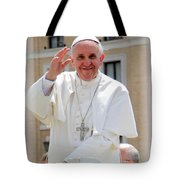 Pope Francis Tote Bag by Diane Greco-Lesser