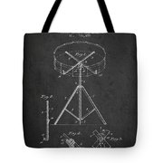 Portable Drum Patent Drawing From 1903 - Dark Tote Bag by Aged Pixel