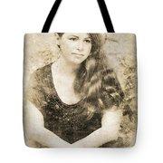 Portrait Of A Vintage Lady Tote Bag