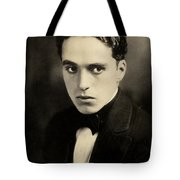 Portrait Of Charlie Chaplin Tote Bag
