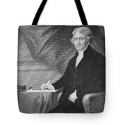 Portrait Of Thomas Jefferson Tote Bag
