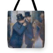 Portraits At The Stock Exchange Tote Bag