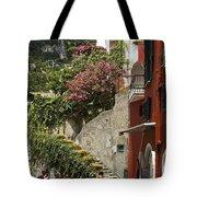 Positano Street Scene Tote Bag