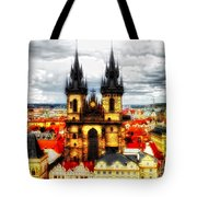 Prague Church Of Our Lady Before Tyn Tote Bag