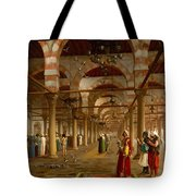 Prayer In The Mosque Tote Bag