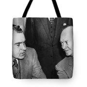President Eisenhower And Nixon Tote Bag