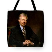 President Jimmy Carter Painting Tote Bag
