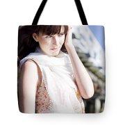 Pretty Young Fashion Model Tote Bag