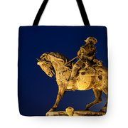 Prince Eugene Of Savoy Statue At Night Tote Bag