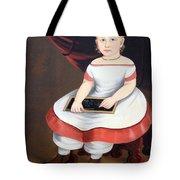 Prior Hamblin School's Little Girl With Slate Tote Bag