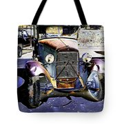 Psychedelic Old Pickup Truck 2 Tote Bag