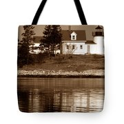 Pumpkin Island Lighthouse Tote Bag
