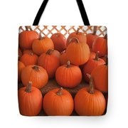 Pumpkins On Pumpkin Patch Tote Bag