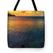 Purple And Orange Sunset Tote Bag