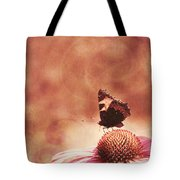 Purple Echinacea Flower Tote Bag