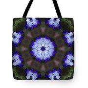 Purple Iris Kaleidoscope Tote Bag