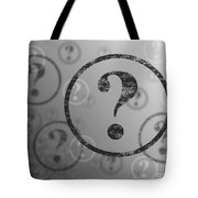 Question Mark Background Bw Tote Bag