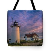 Race Point Lighthouse Sunset Tote Bag
