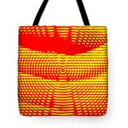 Radial Sunset Tote Bag