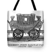 Railroad Passenger Car Tote Bag
