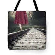 Railway Tracks Tote Bag