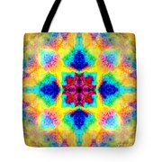 Rainbow Light Mandala Tote Bag